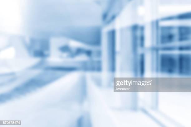 Architecture défocalisé floue de mouvement abstrait