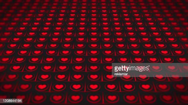 stockillustraties, clipart, cartoons en iconen met defocused achtergronden, de dag van de valentijnskaart met veelvoudige hartenachtergrond. rode hartenvorm, abstracte achtergronden. - oscilloscoop