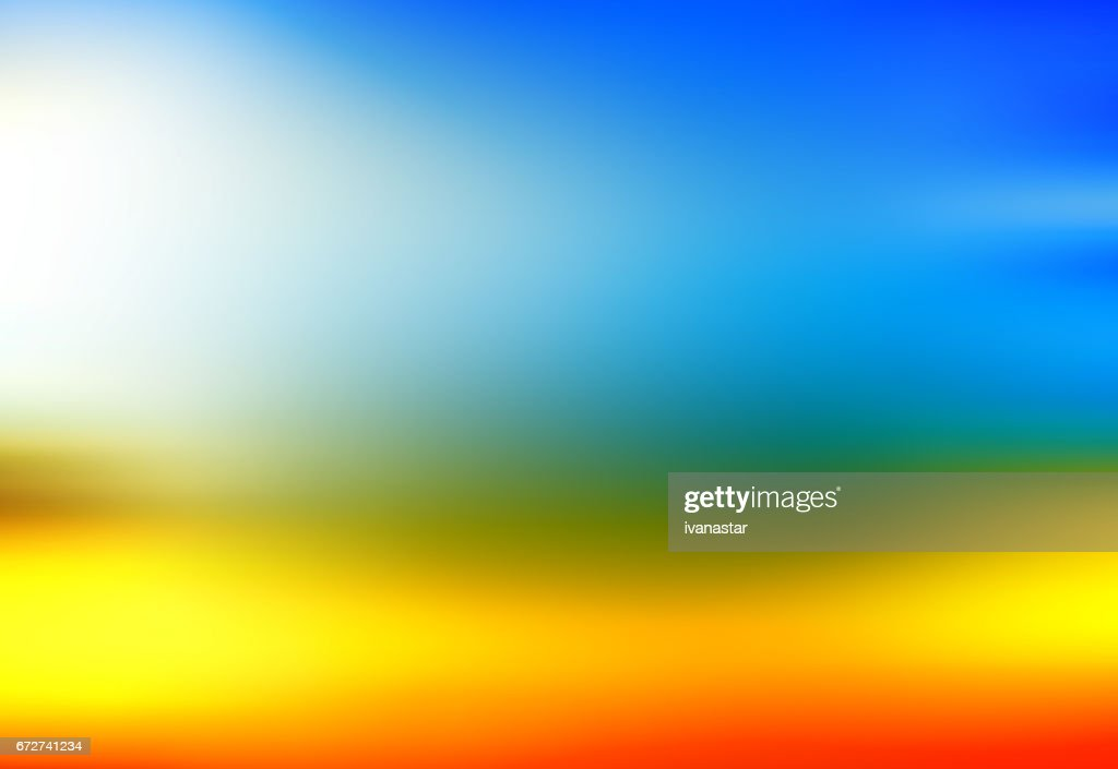 Defocused view of sunset : stock illustration