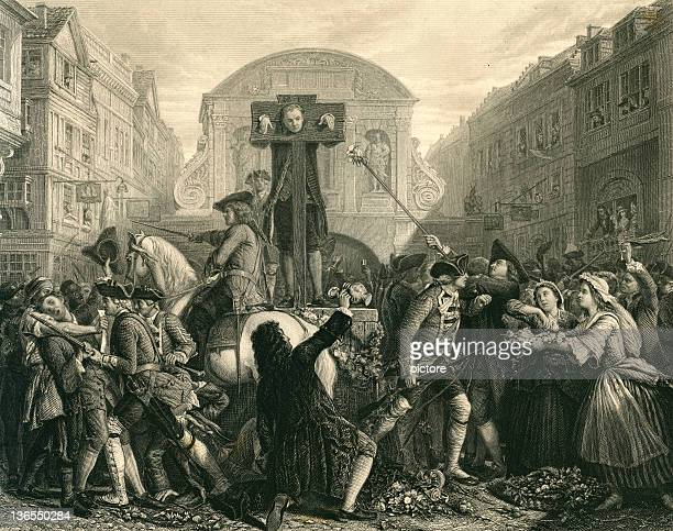 defoe in the pillory (xxxl) - pillory stock illustrations
