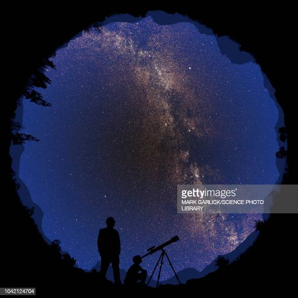 360 degree night sky, illustration - reveal stock illustrations, clip art, cartoons, & icons