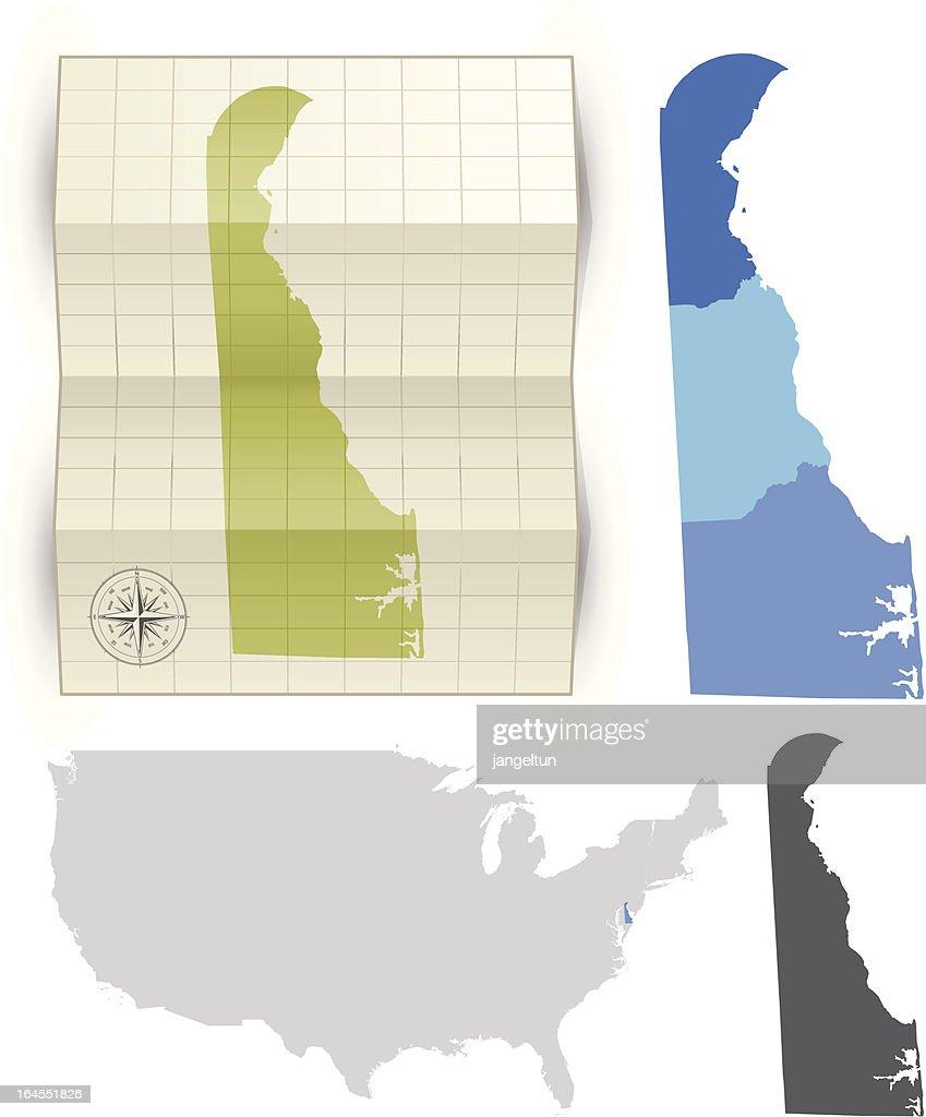 Delaware State Karte Vrgrafik - Getty Images on
