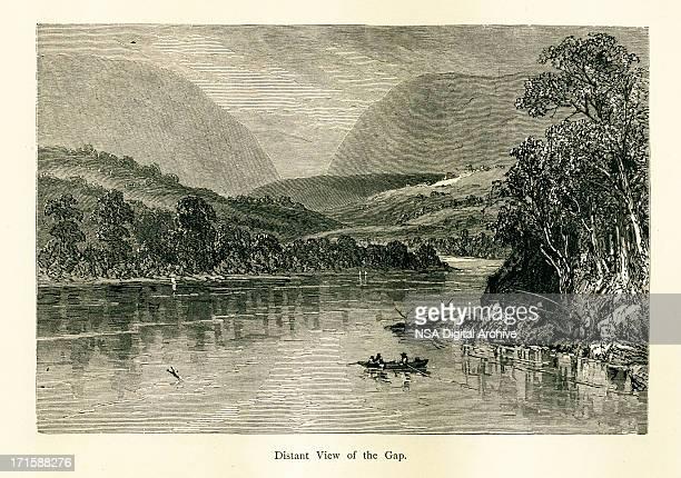 Delaware Water Gap, USA | Historic American Illustrations