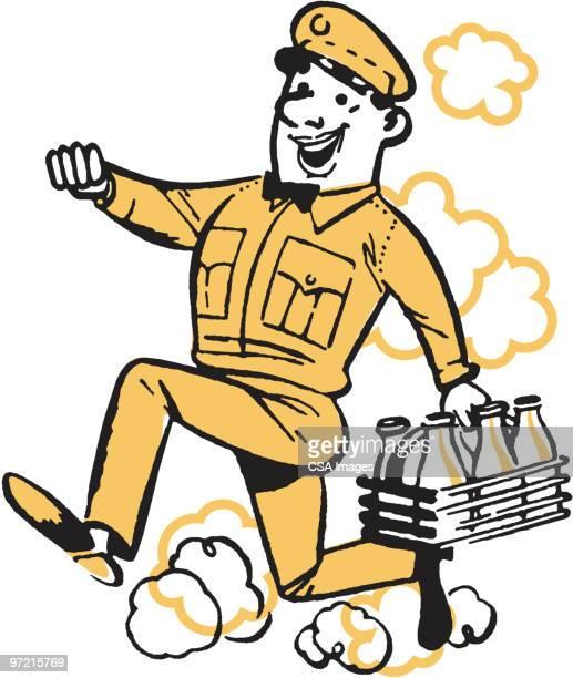 delivery man - uniform stock illustrations