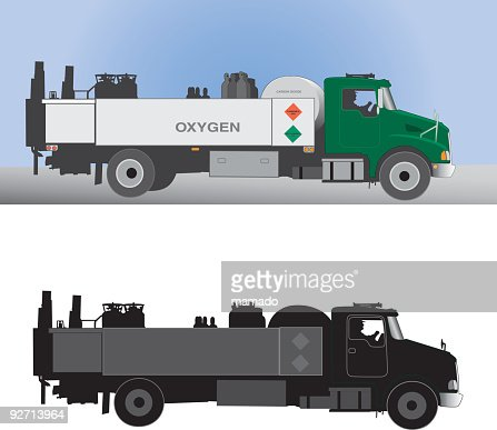 Delivery Truck With Driver Oxygen Gas High Res Vector Graphic Getty Images