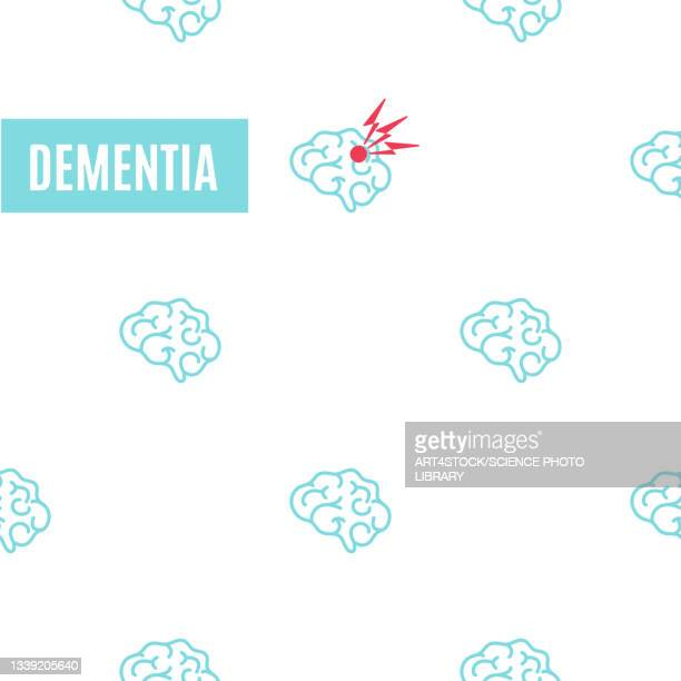 dementia, conceptual illustration - the ageing process stock illustrations