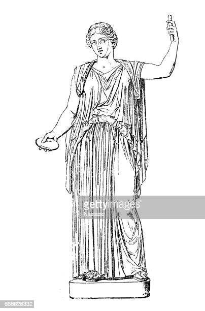 ilustraciones, imágenes clip art, dibujos animados e iconos de stock de demeter, diosa griega - roman goddess