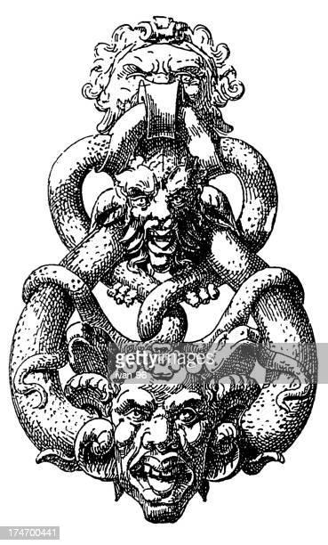illustrations, cliparts, dessins animés et icônes de démon heurtoir - marteaudeporte