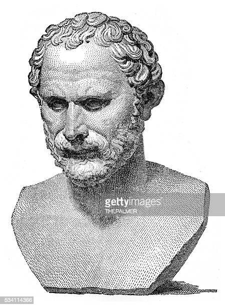 demosthenes engraving 1894 - governmental occupation stock illustrations, clip art, cartoons, & icons