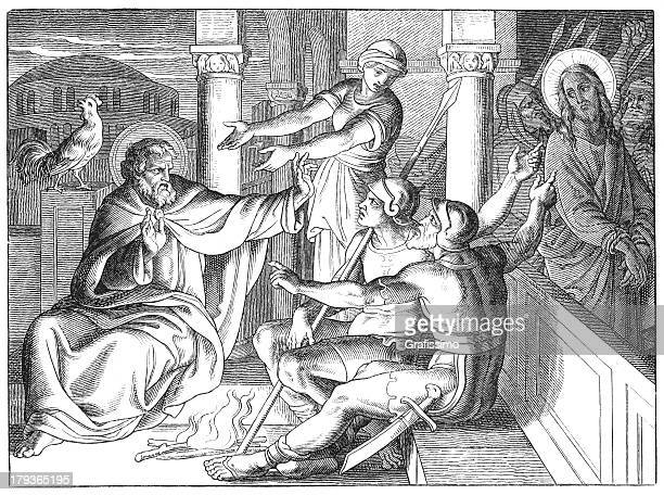 Denial of Jesus by Peter and arrest