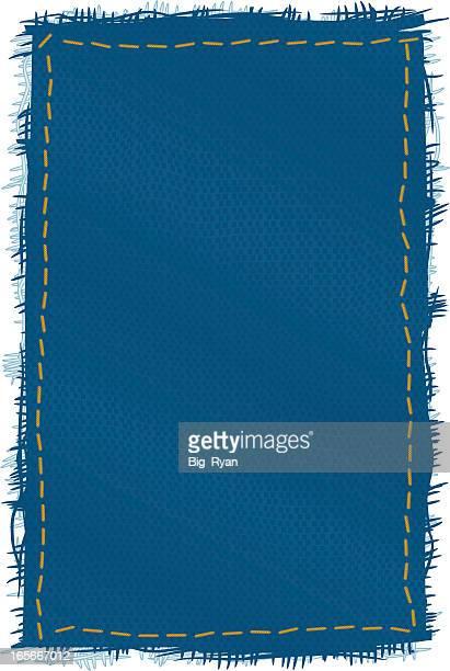 デニムのパッチ - つぎあて点のイラスト素材/クリップアート素材/マンガ素材/アイコン素材