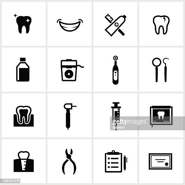 dental icons - dental floss stock illustrations, clip art, cartoons, & icons