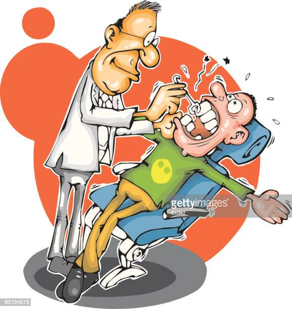 dentist and patient - dental drill stock illustrations