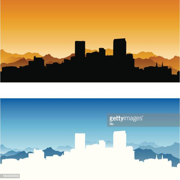 denver city skyline - skyline stock illustrations