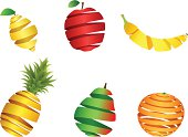 Design elements | Fruit from ribbons
