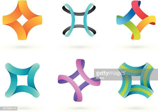 Elementos de diseño/cuádruple de borde infinito