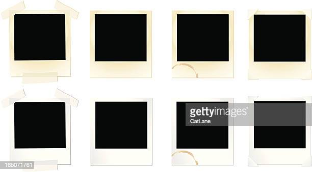 design elements: photo frame set - blank stock illustrations