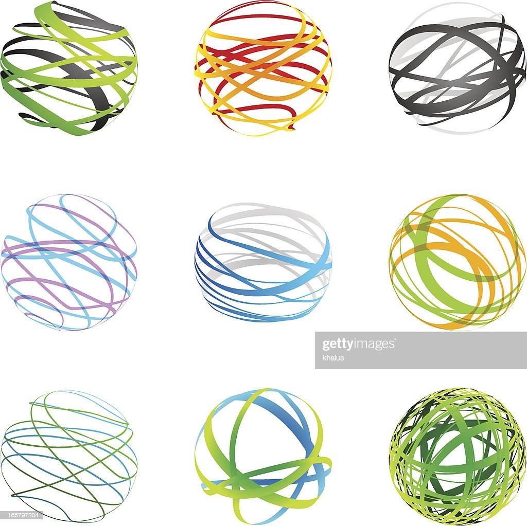 Design Elements | sphere set : Stock Illustration