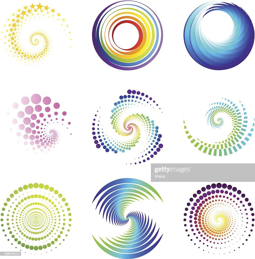 Design-Elemente/twirl & circle : Stock-Illustration