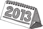 Desktop Calendar 2013 Drawing
