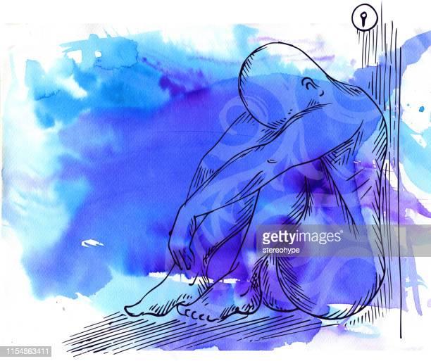 despair - drug rehab stock illustrations
