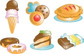 Dessert food icons