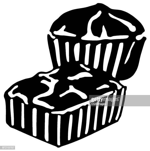 dessert - brownie stock illustrations, clip art, cartoons, & icons