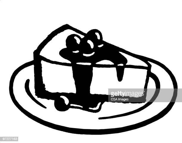 dessert - cake stock illustrations