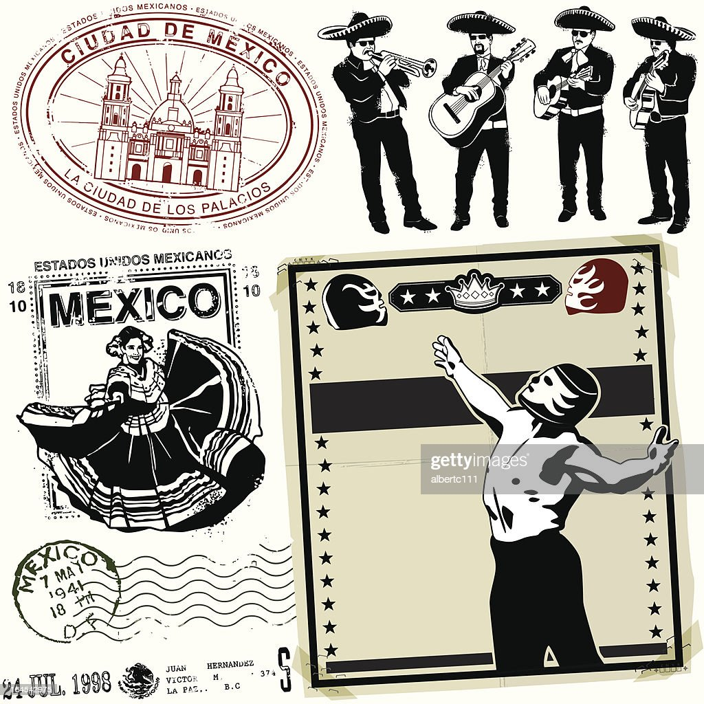 Destinacion Ye Olde México : Ilustração de stock