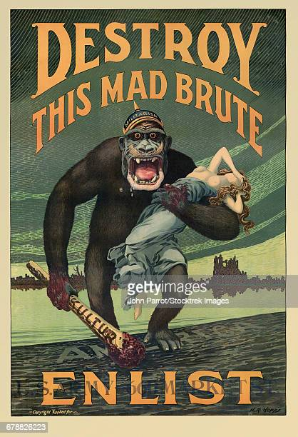 Destroy This Mad Brute propaganda poster.