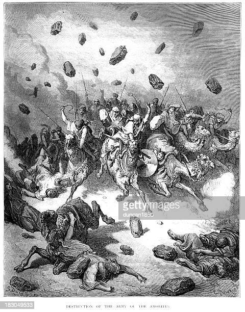 destruction of the army - battle stock illustrations