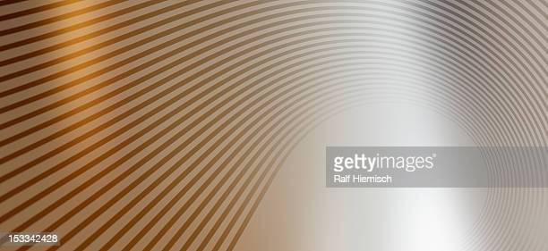 Detail of curved lines against an abstract background