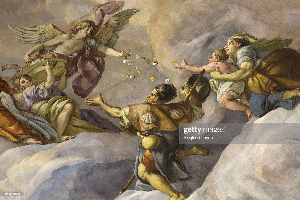 Detail of Fresco in the Karlskirche : Stock Illustration