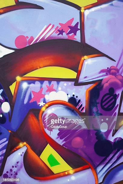 detail of graffiti - macrophotography stock illustrations