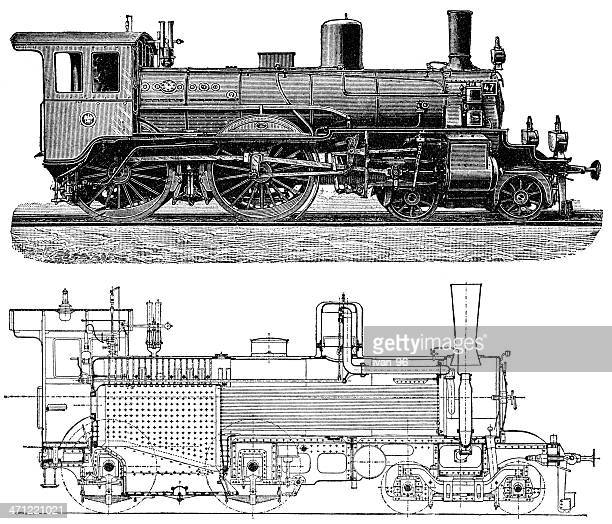 A detailed image of a locomotive