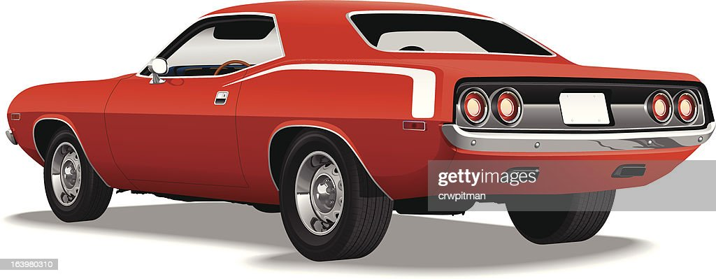 Detailed Red Pony Car Vector