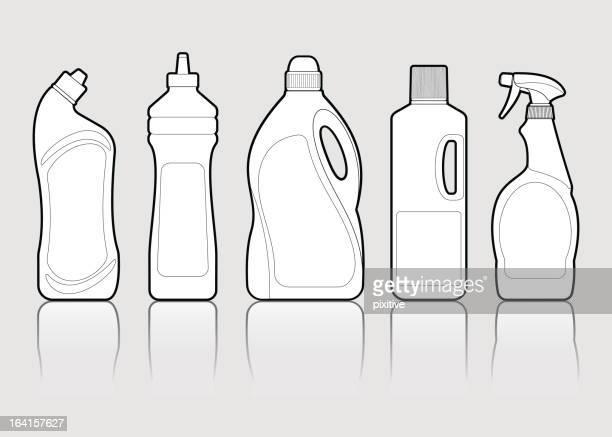 detergents - laundry detergent stock illustrations, clip art, cartoons, & icons
