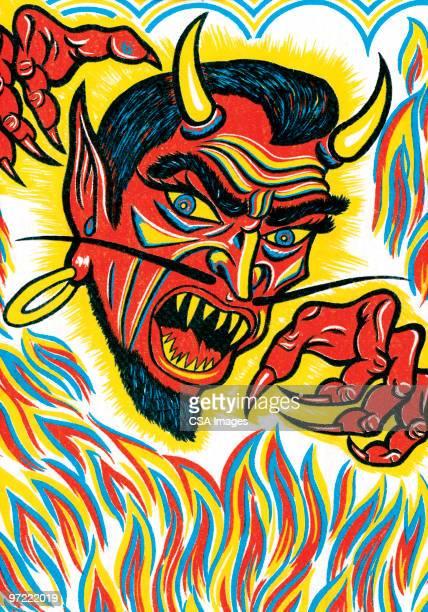 devil - inferno stock illustrations, clip art, cartoons, & icons