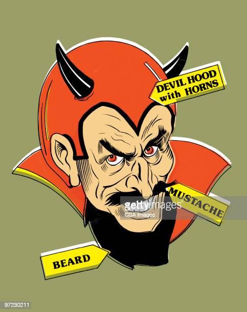 ilustraciones, imágenes clip art, dibujos animados e iconos de stock de devil - inocentada