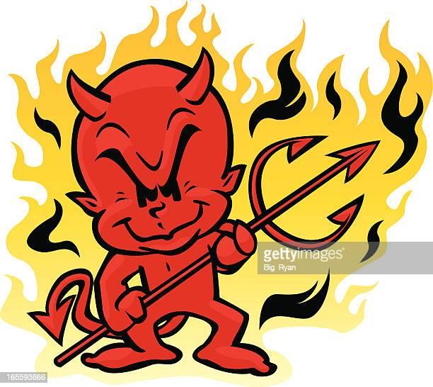 ilustraciones, imágenes clip art, dibujos animados e iconos de stock de devil niños - inocentada