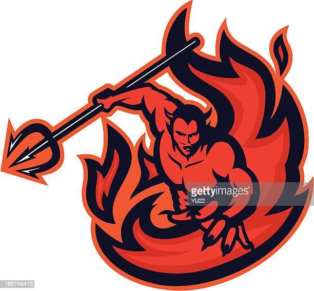 Devil on fire
