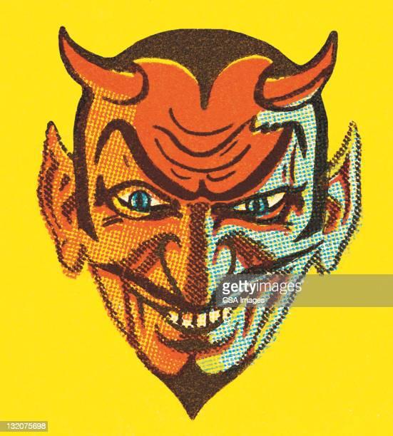 devil with horns - devil stock illustrations