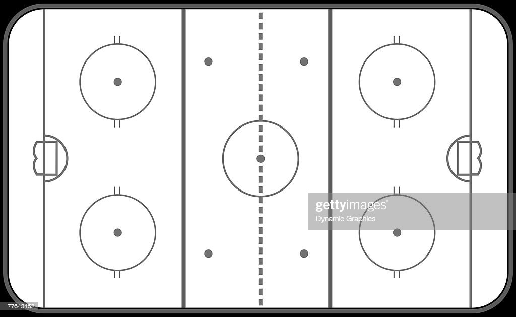 Diagram Of Hockey Rink From Above Vector Art Getty Images