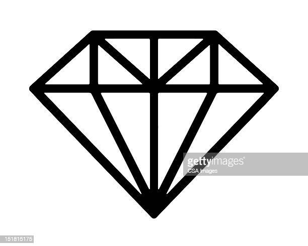 diamond - marriage stock illustrations