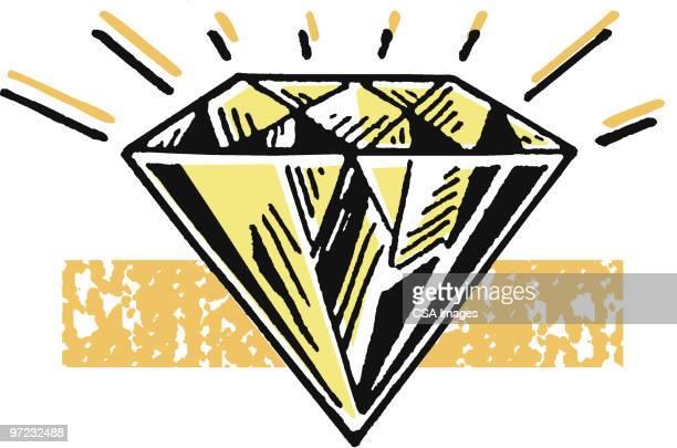 diamond - shiny stock illustrations