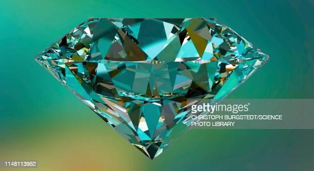 illustrazioni stock, clip art, cartoni animati e icone di tendenza di diamond, illustration - brillante