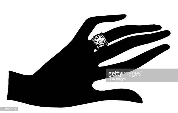 diamond ring - marriage stock illustrations