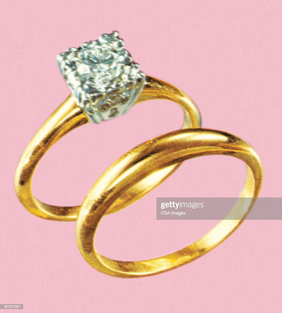 Diamond Rings Stock Illustration | Getty Images