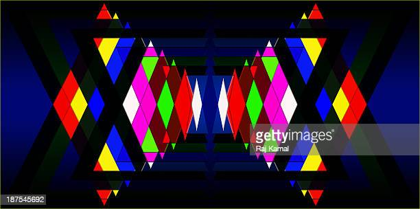 diamond shapes panorama creative abstract design - triangle shape stock illustrations