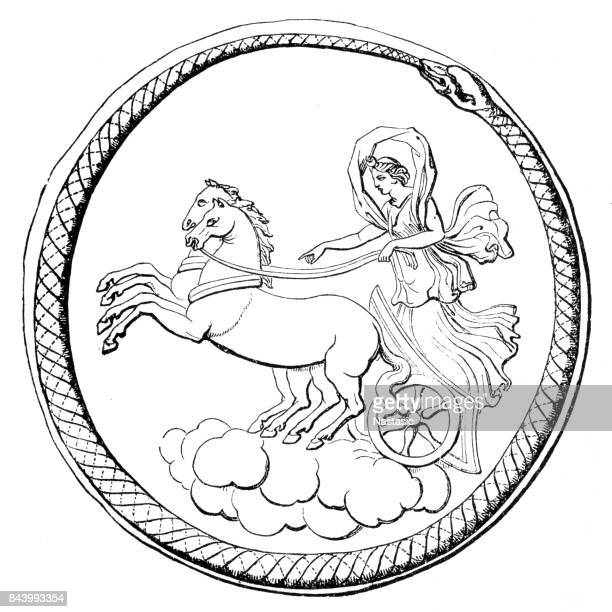 diana - roman goddess - aphrodite stock illustrations, clip art, cartoons, & icons